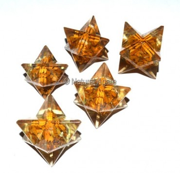 Orgone Yellow Jasper Merkaba Star