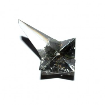 Orgone Black Tourmaline Magic Stick Merkaba Star