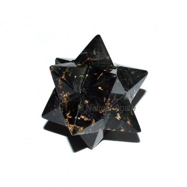 Orgone Black Tourmaline 20Point Merkaba Star