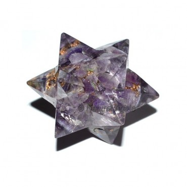 Orgone Amethyst 20 Point Merkaba Star