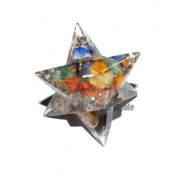 Orgone 12 Point Seven Chakra Merkaba Star