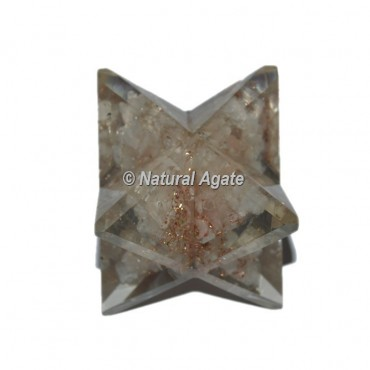 Orgone Crystal Quartz Big Merkaba Star