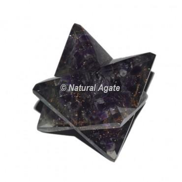 Orgone Amethyst Big Merkaba Star