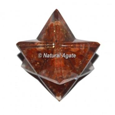 Orgone Carnelian Big Merkaba Star