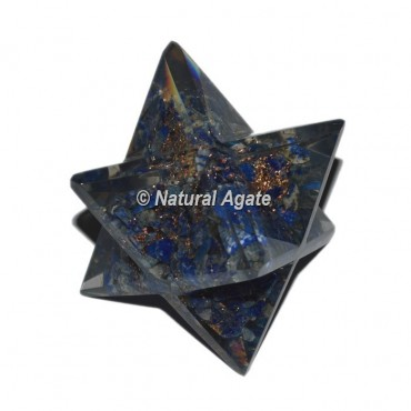 Orgone Lapis Lazuli Big Merkaba Star