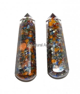 Orgone Chakra Faceted Massage Wands