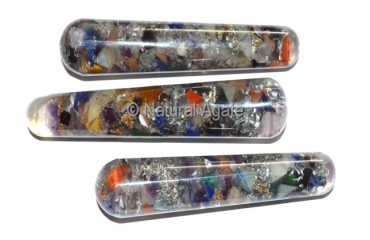 Orgone Chakra Stone Smooth Massage Wands
