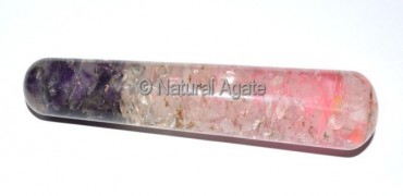 Orgone Ame-Cry-Rose Smooth Massage Wands