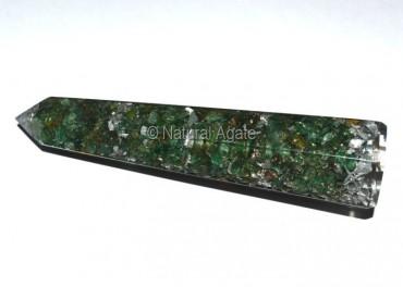 Orgone Green Jade Obelisk