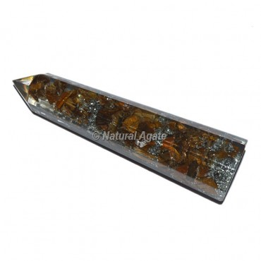 Tiger Eye Orgone Obelisk