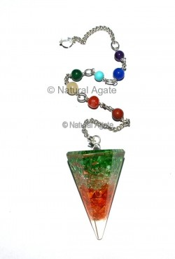 Indian Flag Orgone Pendulums