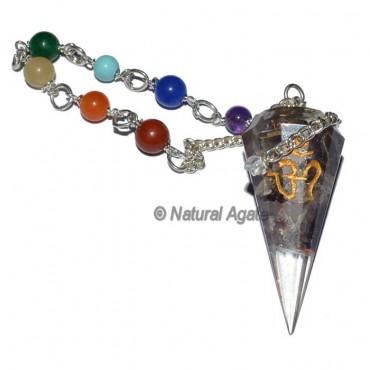 Orgone Amethyst Chakra Pendulum With Om