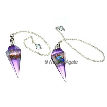 Orgone Amethyst Pendulums