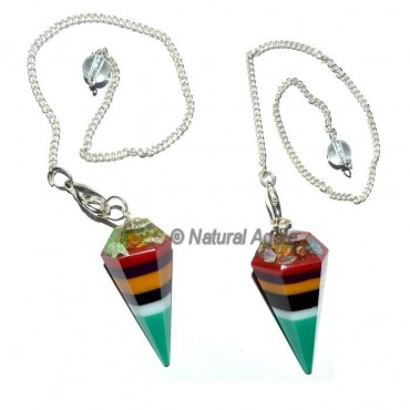 Multi Colour Organite Pendulum