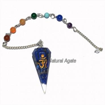 Orgone Lapis Lazuli Seven Chakra Pendulum
