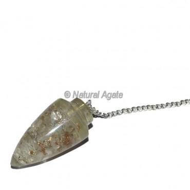 Crystal Quartz Bullet Plane Orgone Pendulum