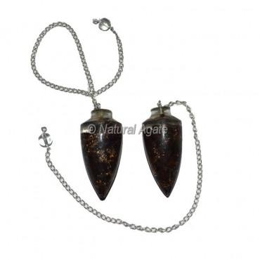 Black Tourmaline bullet Plane Orgone Pendulum