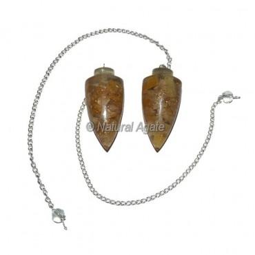 Golden Quartz Plane Orgone Pendulum
