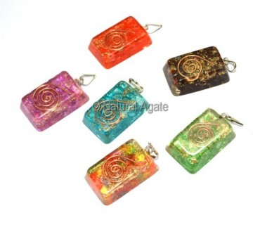 Orgone Mix Ractangle Pendants