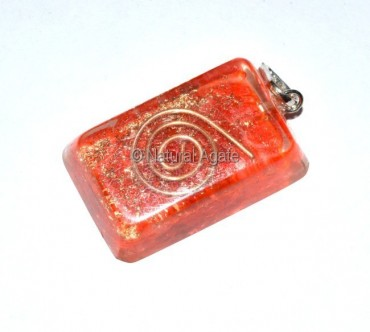 Orgone Carnellain Ractangle Pendants