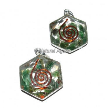 Green Aventurine David Star Pendants