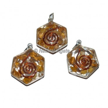 Golden Quartz David Star Pendants