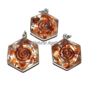 Carnelian David Star Pendants