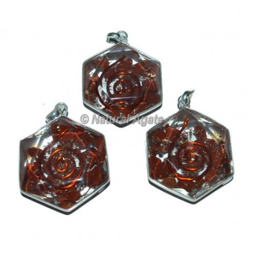 Red Jasper David Star Pendants