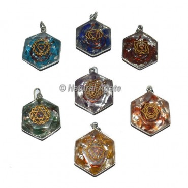 Engraved Seven Chakra Symbol David Star Set Pendants