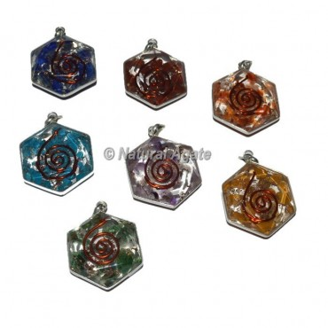 Mix Stone David Star Orgone Pendants