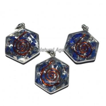 Lapis Lazuli David Star Orgone Pendants
