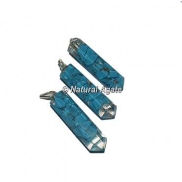 Turquoise Pencil Pendants