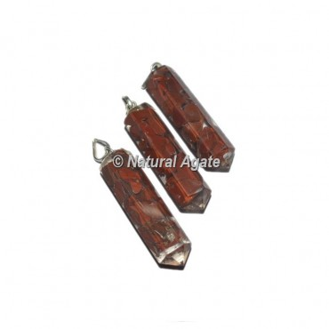 Red Jasper Pencil Pendants