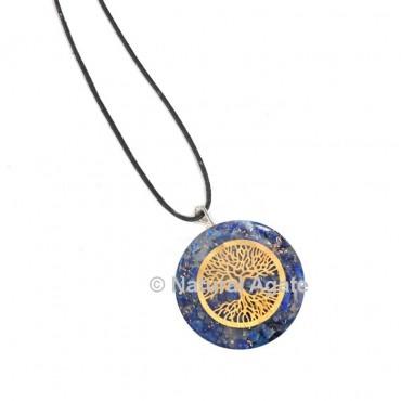 Lapis Lazuli Tree Of Life Orgone Pendant