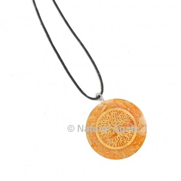 Yellow Aventurine Tree Of Life Orgone Pendant