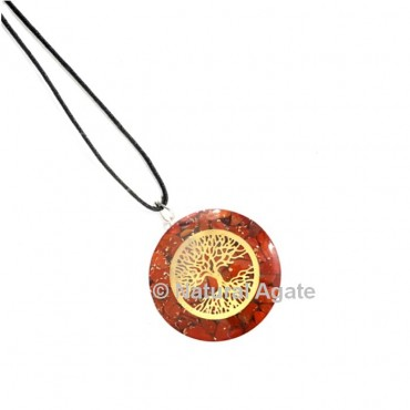 Red Jasper Tree Of Life Orgone Pendant