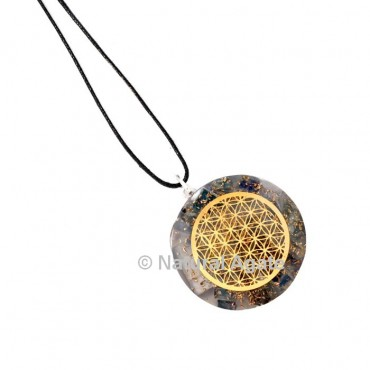 Green Jade Flower Of Life Orgone Pendant