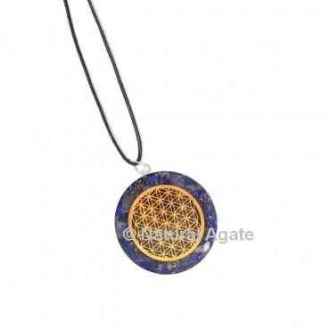 Lapis Lazuli Flower Of Life Orgone Pendant