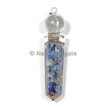 Lapis Lazuli Pencil cap Orgone Pendants