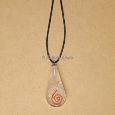 Selenite Orgonite Pendants Drop Shape