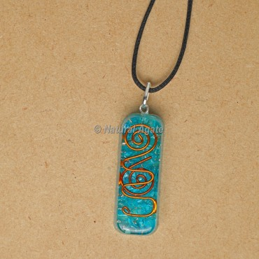 Aquamarine Orgonite Pendants for EMF Protection