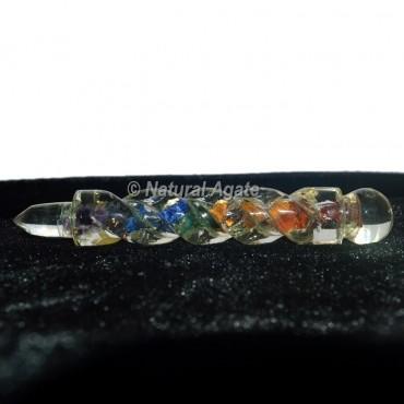 Seven Chakra Crystal Healing Wand