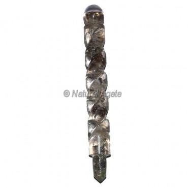 Quartz Stone Spiral Orgone Wands