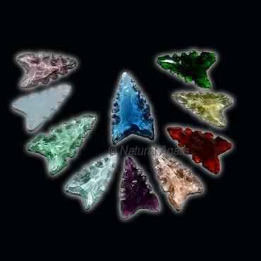 Multi Color Glass Native Arrowheads