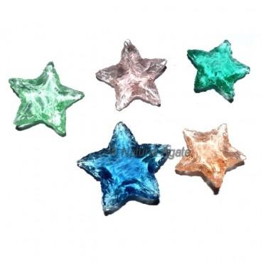 Star Shape Glass Arrowheads