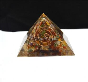 Multi Stone Orgone Pyramid
