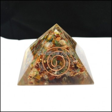 Multi Stone Orgone Big Pyramid