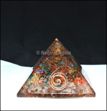 Colorfull Crystal Orgone Pyramid