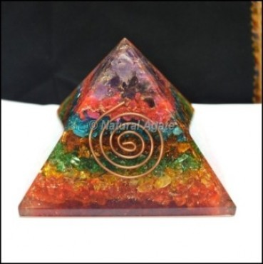 Chakra Color Energy Orgone Pyramid