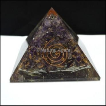 Amethyst Chakra Pencil Orgone Pyramids